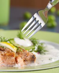 Include fish for a healthful diet.